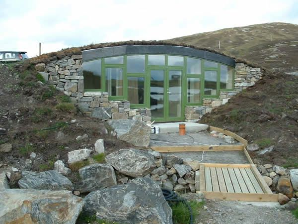 Earth berm house in scotland houses pinterest the o for Earth sheltered home designs