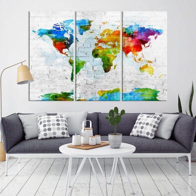 25 Best World Map Canvas Ideas On Pinterest Map Canvas