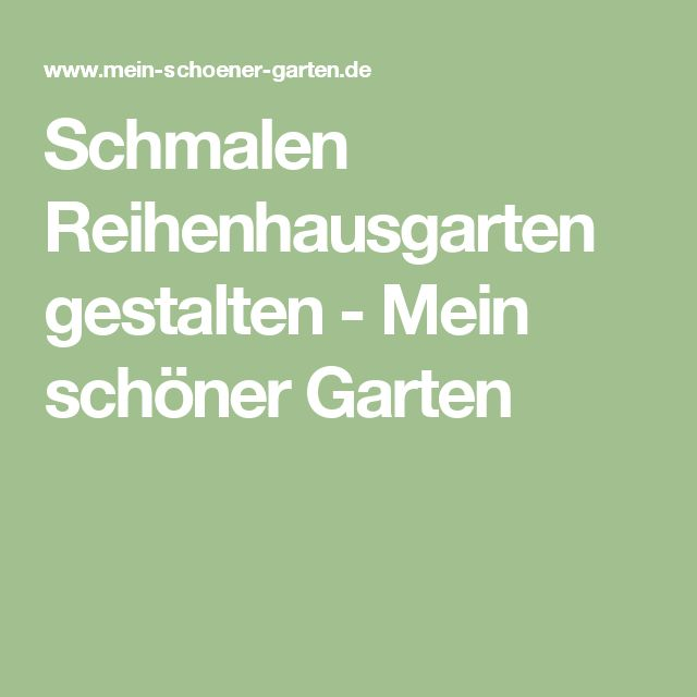 1000+ ideas about reihenhausgarten on pinterest | bildschirmhaus, Garten und Bauen