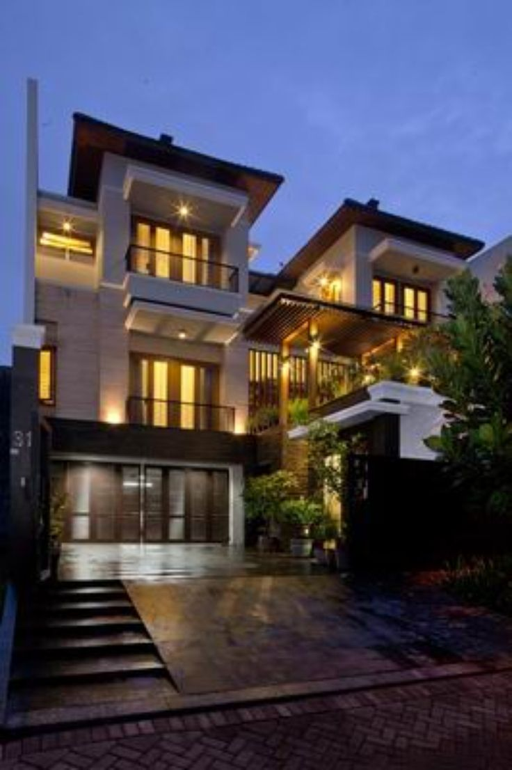 Tropical Balinese Modern House. Modern Architecture Has