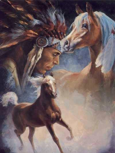 It shows the importance of horses to native Americans