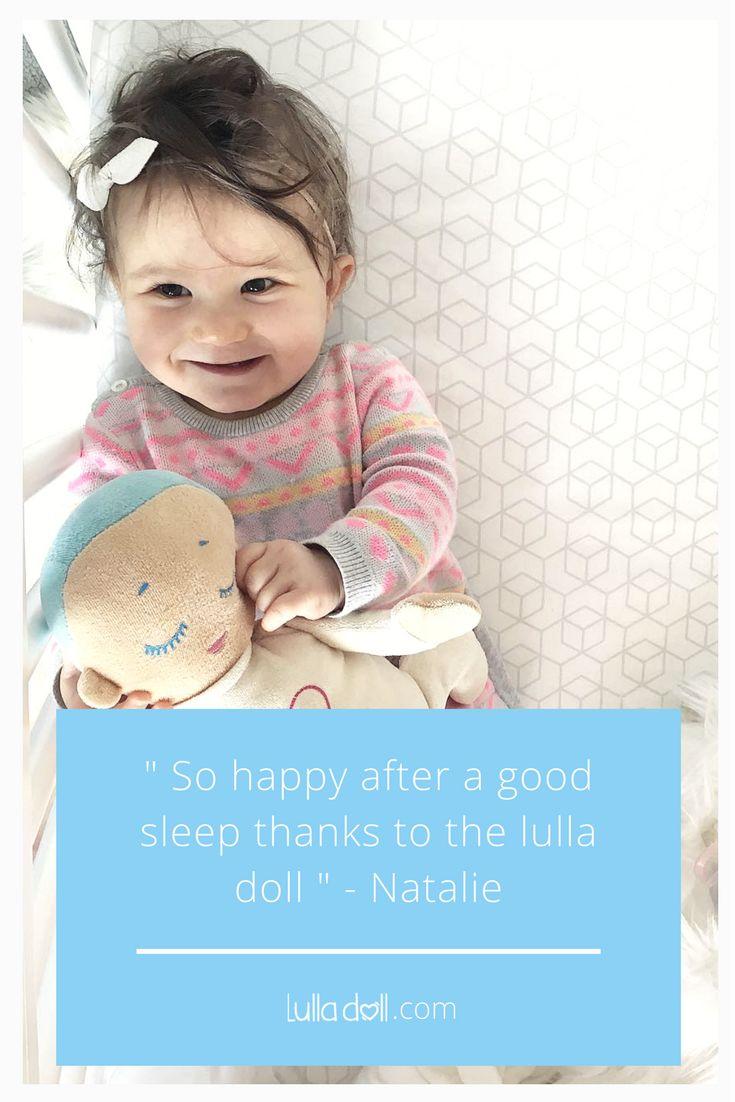 """So happy after a good sleep thanks to the lulla doll"" - Repost from instagram @dante_and_ariana  Lulla doll is a sleep companion for preemies, babies and toddlers"