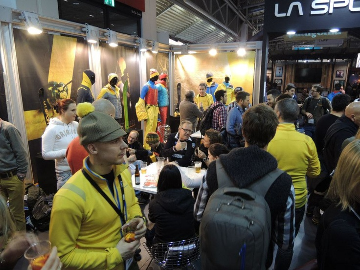 La Sportiva's booth always busy