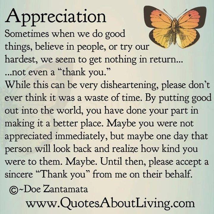 Feeling Unappreciated