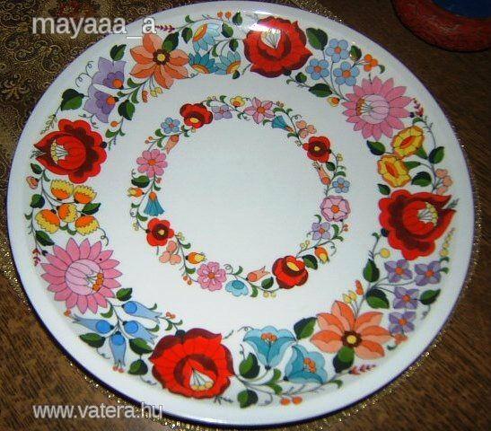 Kalocsai porcelán falitányér  / kézzel festett - 6500 Ft - Nézd meg Te is Vaterán - Falitányér, falidísz - http://www.vatera.hu/item/view/?cod=2071986767