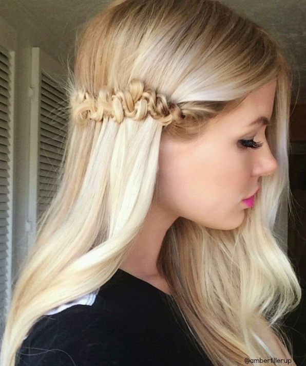 Easy Long Hairstyles with Little Braids 2015
