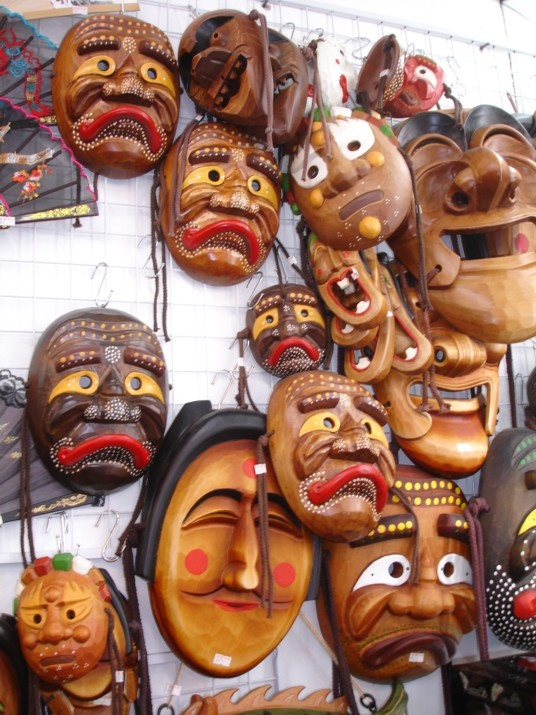 Korean Masks by Richard Macalino, Korea.