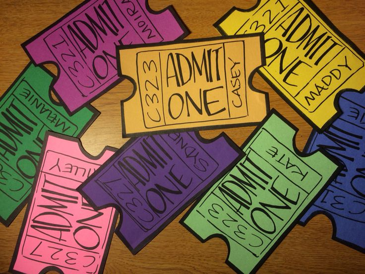 Movie tickets - door decs - RA - college - dorm - Resident Assistant - GVSU