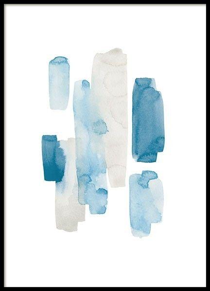 GreyBlue akvarelli desenio
