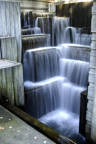 Freeway Park in Seattle , WA by landscape architect Lawrence Halprin
