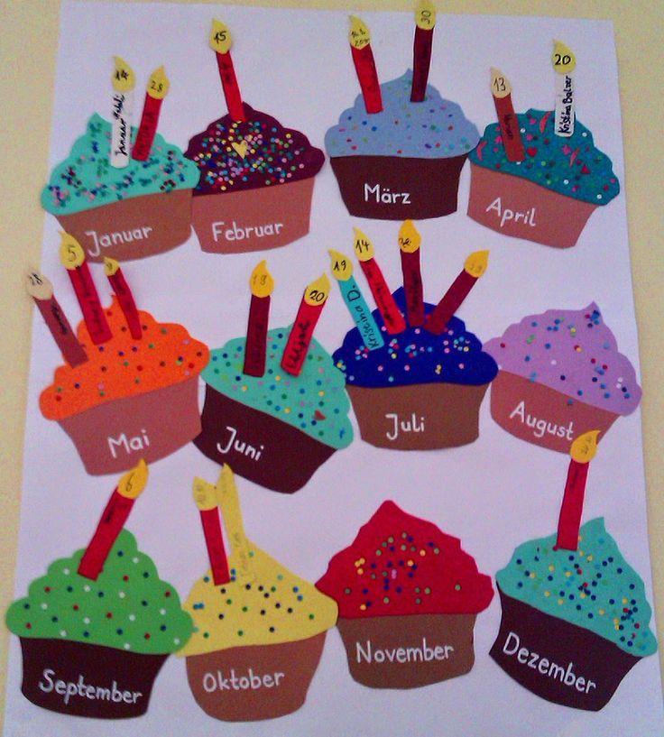 Bastelt euch einen bunten Geburtstagskalender für die Klasse Als ich letztes Ja
