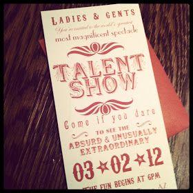 Talent show activity