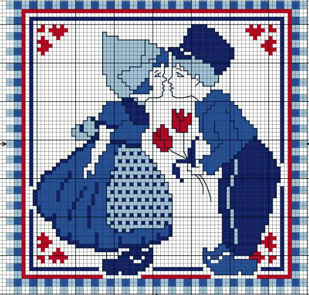 Hollande -  Free PDF Cross-stitch Graph (opens as PDF file).