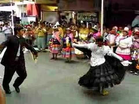 A.   Marinera dance in Peru Lima