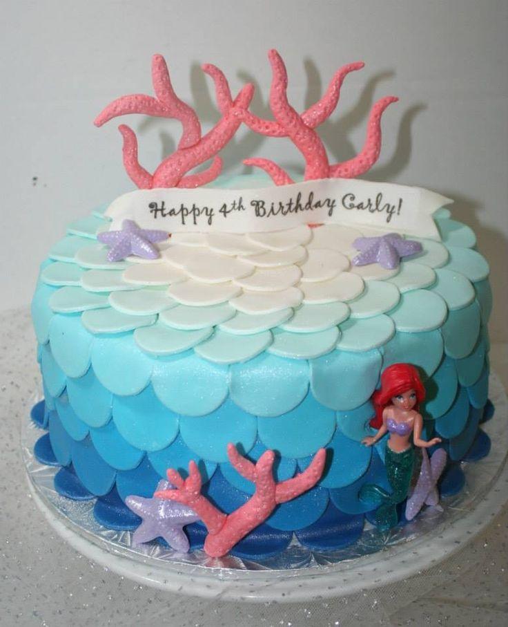 87 Best Little Mermaid Cakes Images On Pinterest