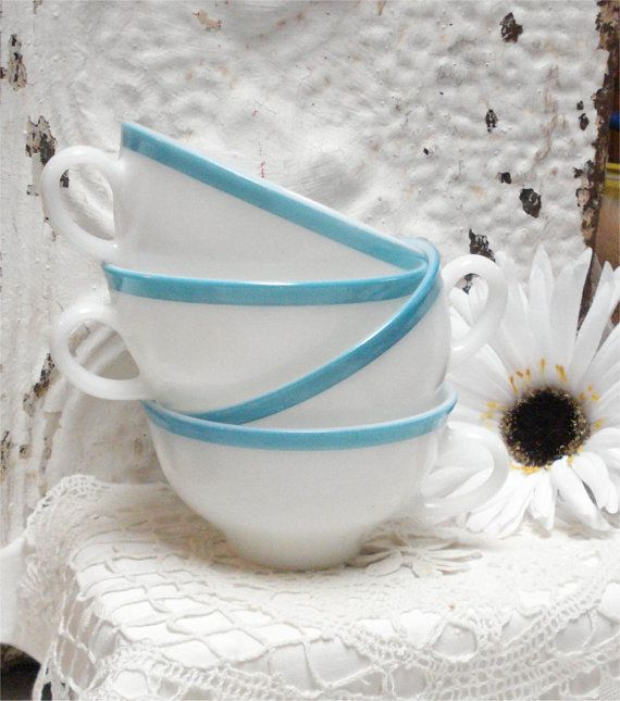 love. cups. lace. flowers. blue. white.