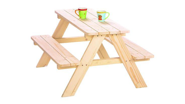 Kindersitzgruppe Nicki, aus Holz, unbehandeltes Fichtenholz