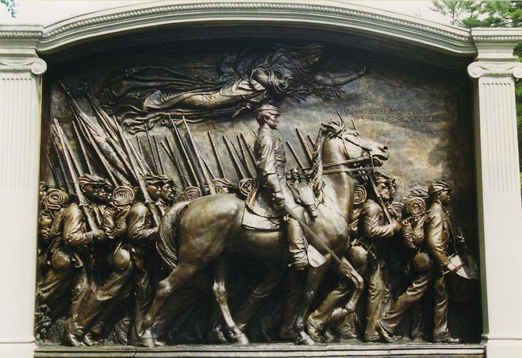 Robert Gould Shaw Memorial....Augustus Saint-Gaudens (1884)