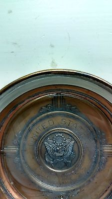 Vintage United States Congress Brass and Glass Ashtray