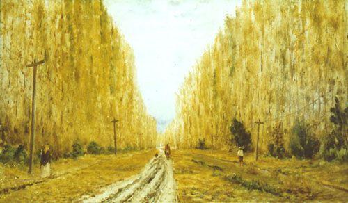 ALAMEDA EN PEÑAFLOR, 1895 Óleo sobre tela 34 x 57 cm Museo Nacional de Bellas Artes