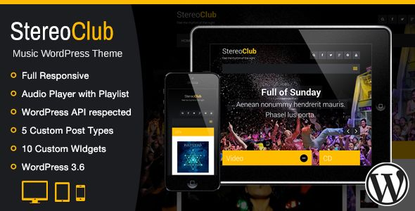 StereoClub / Music WordPress Theme