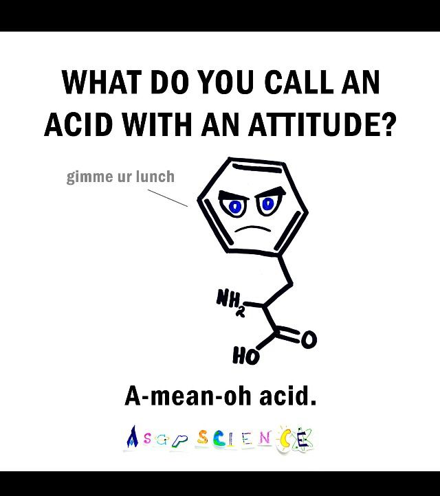 Funny molecular joke...! Credit to ASAP science.