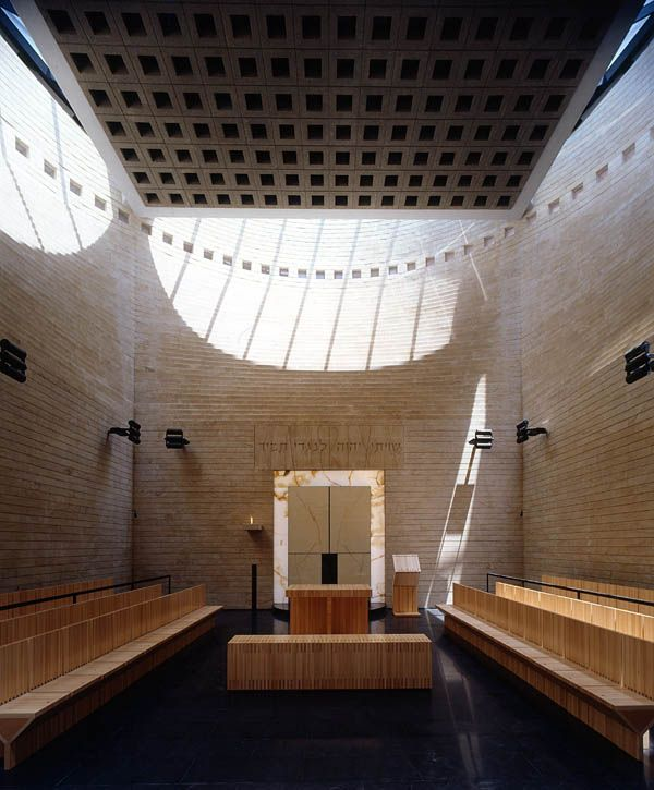 Synagogue and Jewish heritage centre. University Campus of Tel Aviv, Israel. 1998 Mario Botta