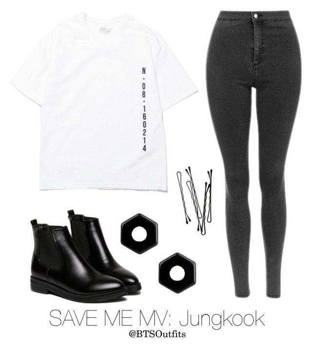 """Save Me MV: Jungkook"" by btsoutfits ❤ liked on Polyvore featuring BOBBY, Marc by Marc Jacobs and WithChic"