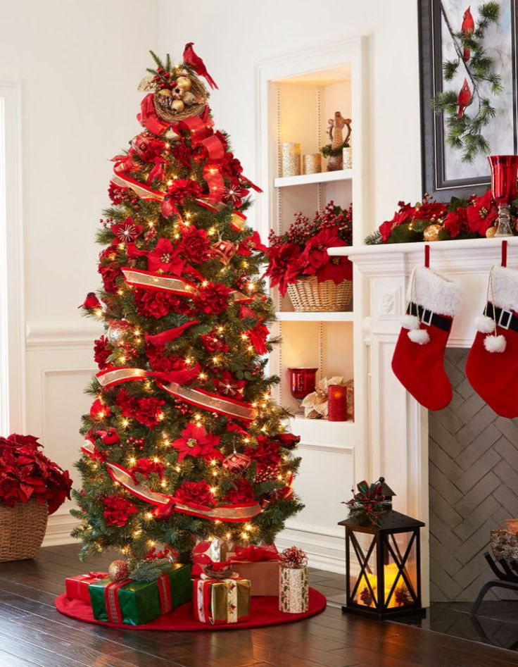 Deck Your Tree Out With Christmas Poinsettia Birds