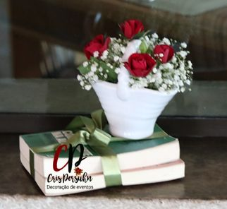 mini arranjo de rosas para casamento rustico #casamento #casamentorustico