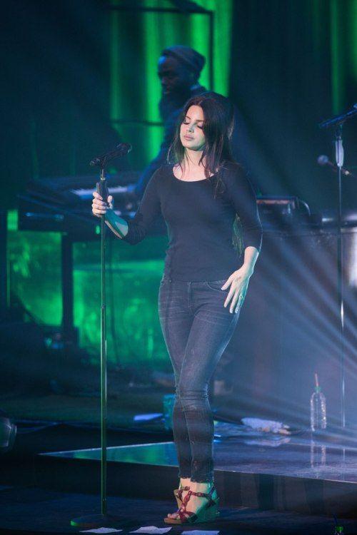 Lana Del Rey performing at Brixton Academy, London. 24th July 2017