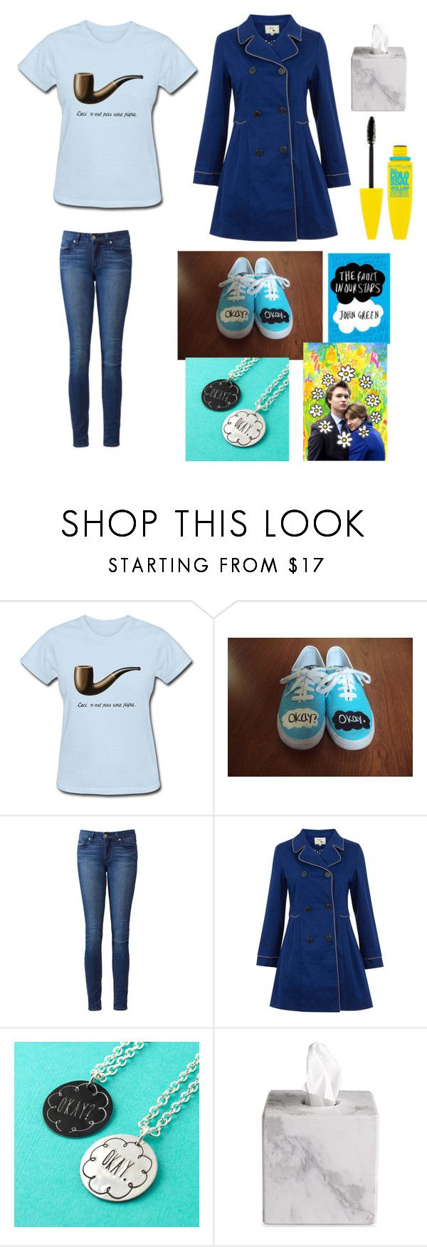 """Hazel grace's outfit/ Tfios stuff"" by ginaisanerd ❤ liked on Polyvore featuring N'Est Pas, Paige Denim, Yumi, Waterworks and Maybelline"