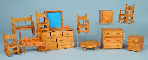 11 Pieces Popsicle Stick Doll Furniture - Crafting For Holidays