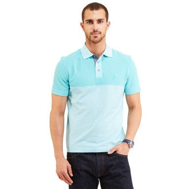 Color Blocked Pique Polo Shirt - Lsr Blu/spphr Mlti/2nd Hd