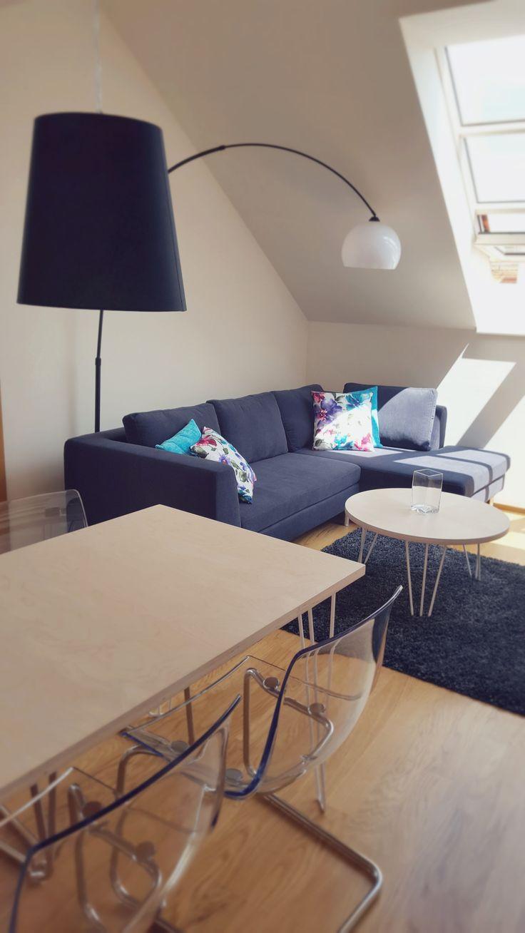 Domingo sofa in attic flat looks cool!