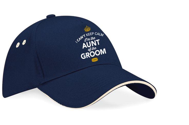 Aunt of the Groom, Wedding Hat, Wedding Gift, Team Groom, Keepsake Baseball Cap, Hen Night, Party Hat, bachelorette party, Hen do, fun gift