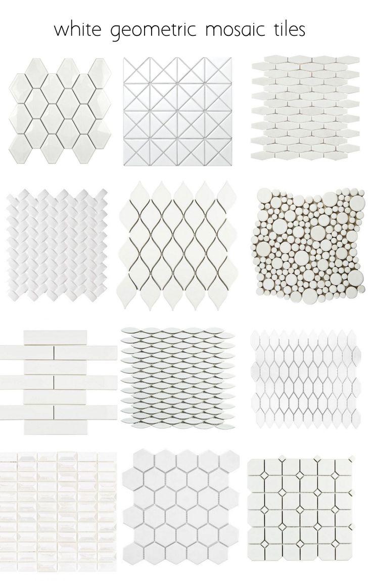 Best 25 white tile backsplash ideas on pinterest white tile white geometric tiles many more patterns dailygadgetfo Images