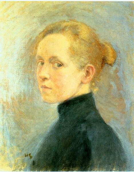 Finnish artist HELENE SCHJERFBECK, Self-Portrait (1946)
