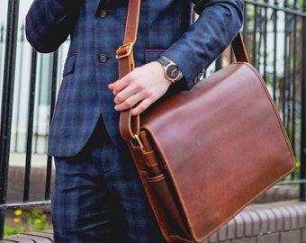 Borsa in pelle Mens Leather Laptop Satchel Bag - nicchia Lane Ryton