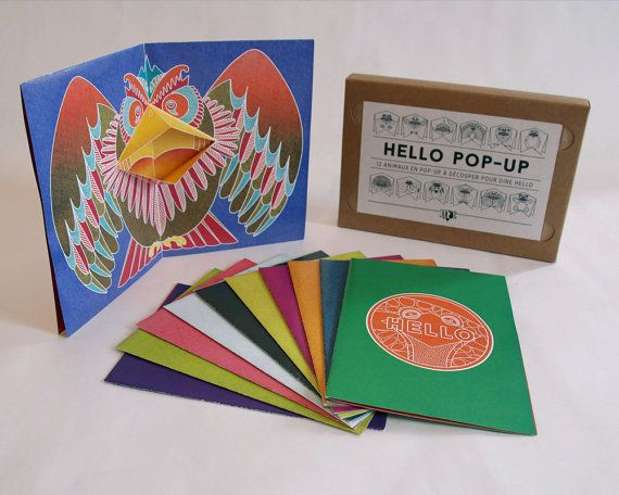 12 Pop-up Cards Animals to make by yourself // by matpapershop