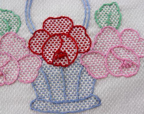 Huck Stitch color and design