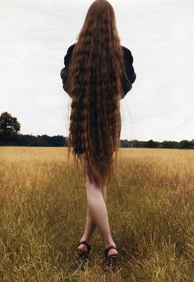long long red hair