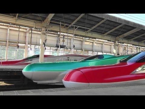 東北新幹線 最近の仙台駅 スーパーこまち到着アナウンスVer. Shinkansen station