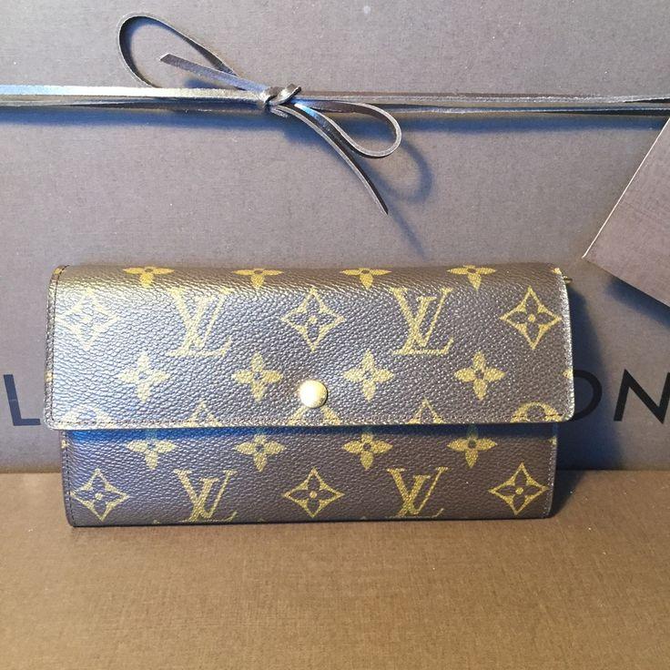 Authentic Vintage Louis Vuitton Mono Sarah Long Wallet SD0031 - The Luxe Boutique