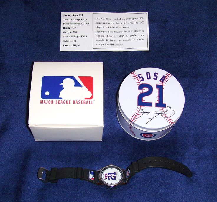 SAMMY SOSA CHICAGO CUBS GAME TIME MLB ALL STARS WATCH IN COLLECTORS TIN 2004 #GameTime #ChicagoCubs