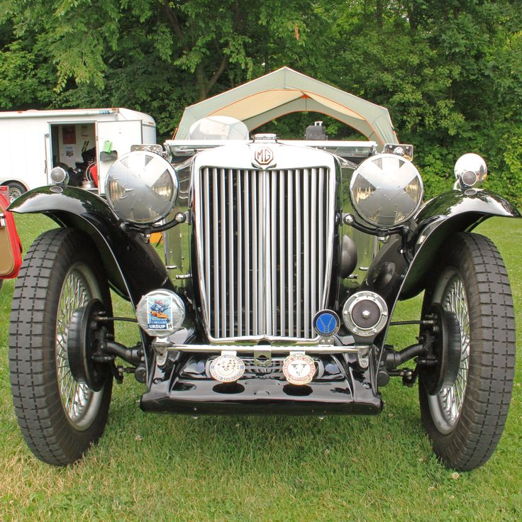 MG TC front end, seen at Road America July 2016.