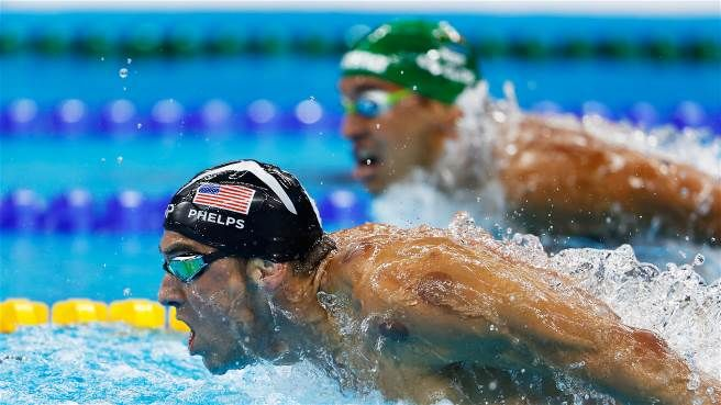 Michael Phelps leads from Claud Le Clos at Rio 2016 in a reversal of the…