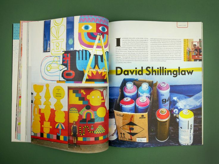 UPPERCASE issue 36 January/February/March 2018  David Shillinglaw murals