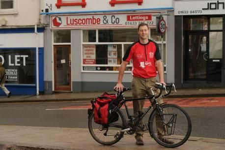 Director takes to the saddle for charity - South Wales Argus: Former Welsh rugby international and local businessman Hal Luscombe is cycling from Cardiff to Dublin in aid of Shelter C...