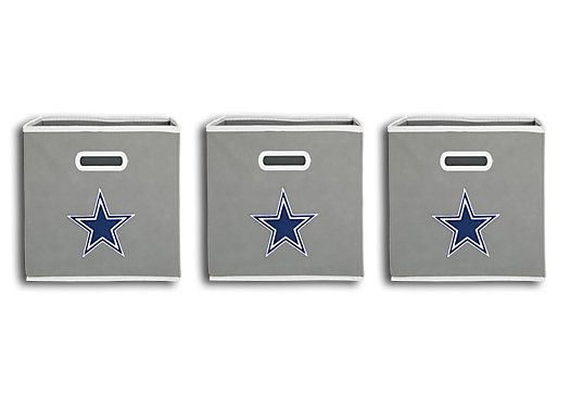 Shop for a NFL CubeStore Dallas Cowboys Set of 3 Storage Bins at Rooms To Go Kids. Find that will look great in your home and complement the rest of your furniture. #iSofa #roomstogo